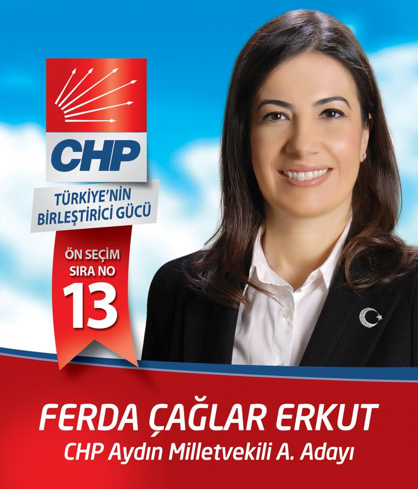 Ferda Çağlar Erkut CHP Aydın Milletvekili Aday Adayı